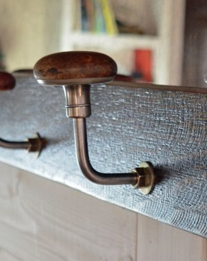 wall mount coat rack with mirror - hand drill hooks