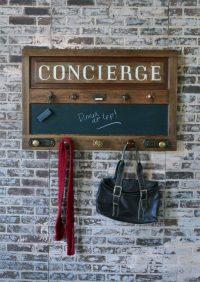wall mounted coat and key rack