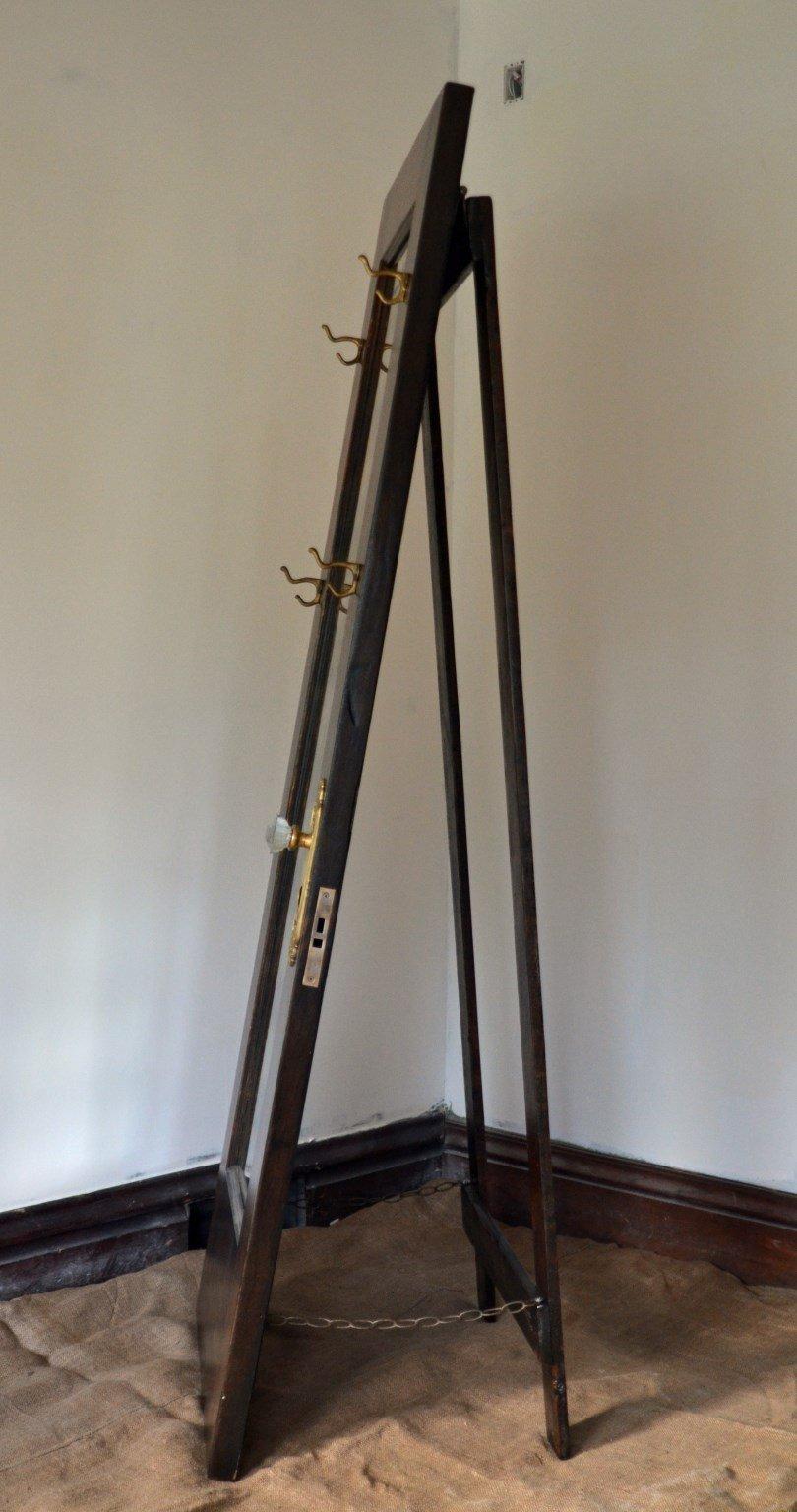 Full Length Standing Mirror - Vintage Door Standing Mirror with Hooks