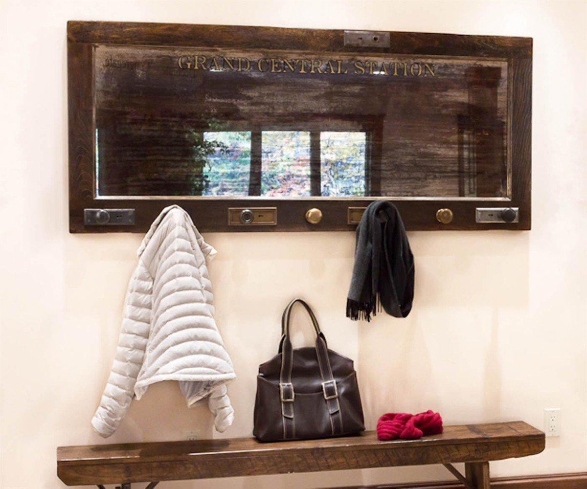 Wall Mounted Coat Rack Mirrored Door Coat Rack With Knobs