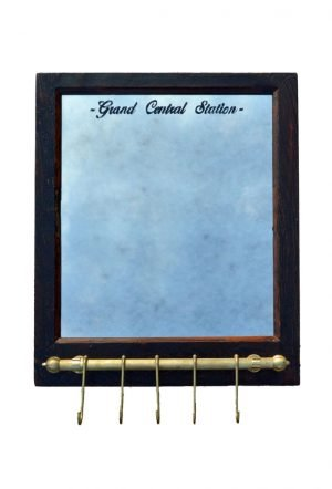 mirror with coat hook rail