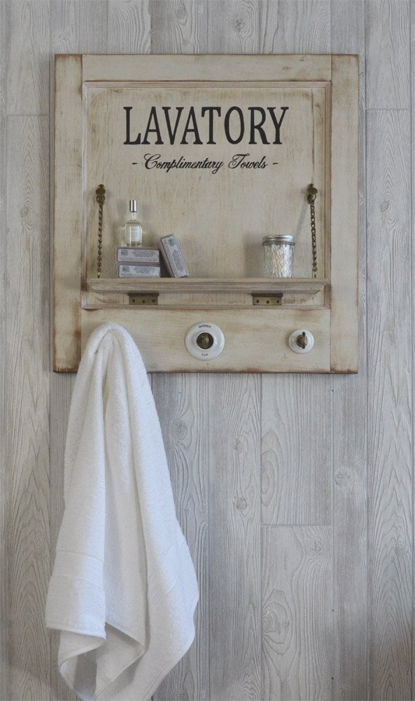 vintage bath towel rack