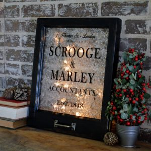 Scrooge and Marley window