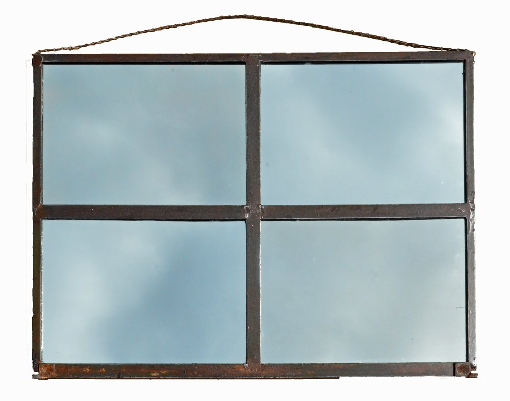 Metal frame wall mirror industrial metal frame wall mirror amipublicfo Gallery