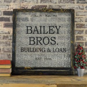 Bailey Brothers themed holiday window