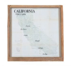 Large Vintage California Map
