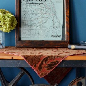 Antique Chicago road map