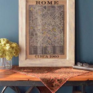 Vintage Rome Street Map