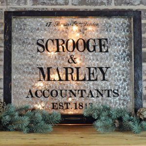 Scrooge and Marley Holiday Window