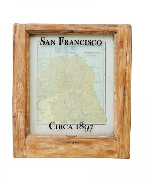 Framed antique San Francisco map