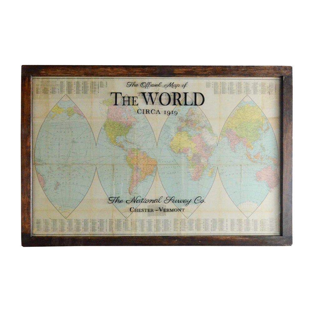 Antique orange peel world map