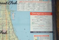 Chicago vintage road map