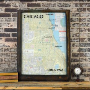 Chicago vintage road map
