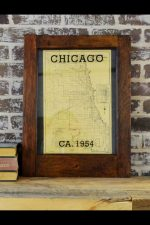 vintage Chicago street guide map