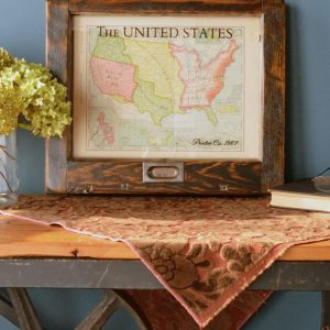 Small Vintage USA map