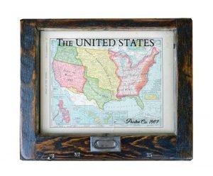 Small Vintage USA map