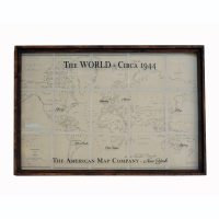 Large Vintage World Map Art