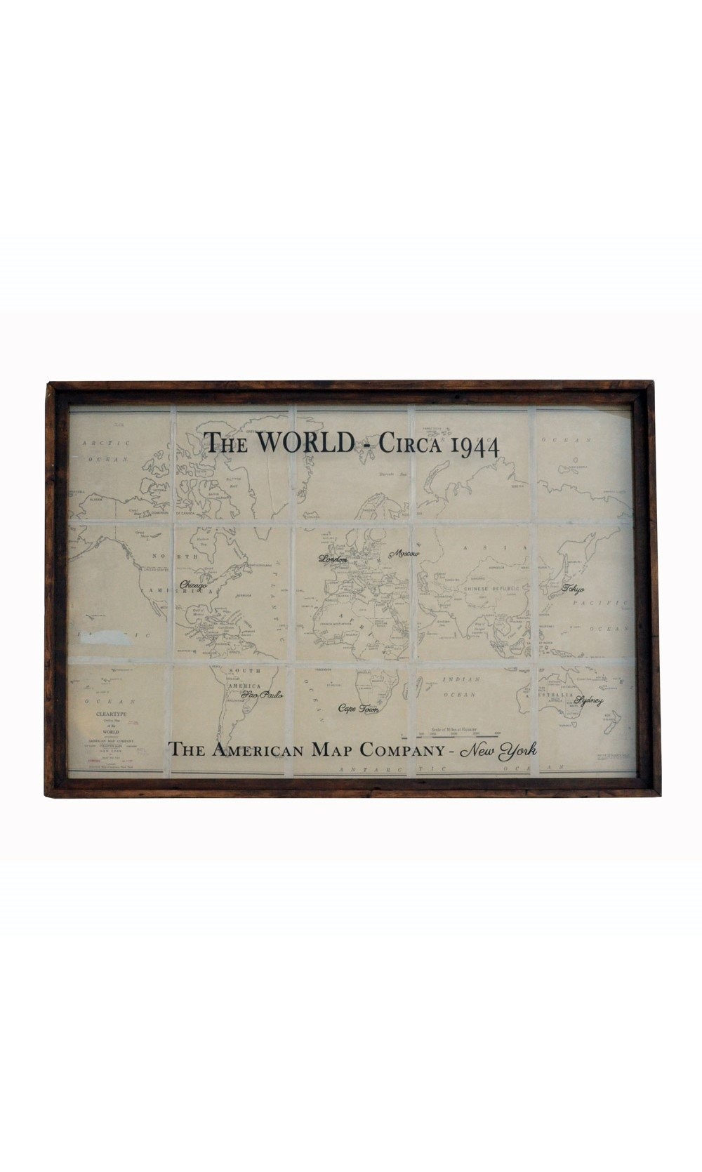 Large Vintage World Map Art Sepia Tone World Map With Rustic - Large sepia world map