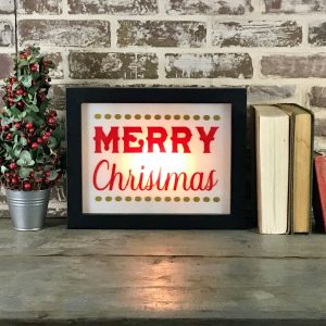 Holiday lighted sign - Merry Christmas